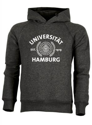 JUNG Hoody in dark heather grey