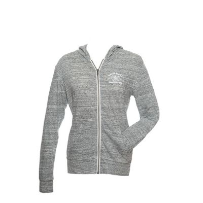 DEERN Zipper in slub heather grey