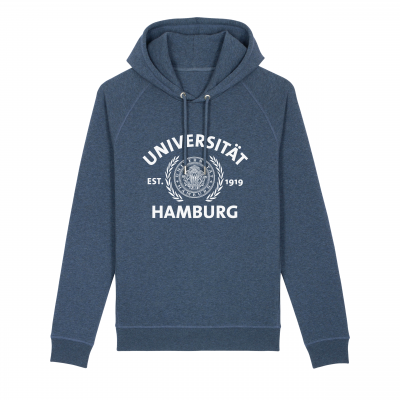 Hoody dark heather blue
